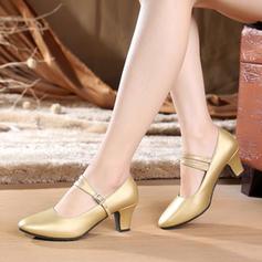 Femmes Chaussures de Caractère Talons Escarpins Vrai cuir Bal