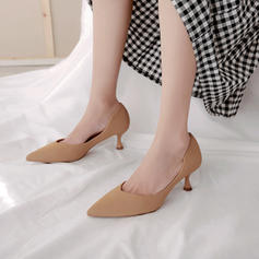Women's Microfiber Leather Stiletto Heel Pumps shoes