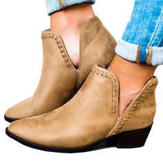 Femmes PU Talon bas Chaussures plates Bout fermé Bottes avec Autres chaussures