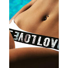 Solid Color Neon Strap Elegant Bikinis Swimsuits