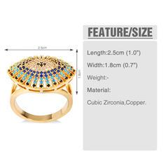 Unique Zircon de Laiton avec Zircon de Femmes Anneaux de mode