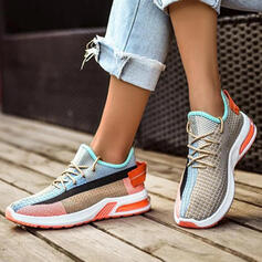 Women's Flying Weave Casual Outdoor Athletic With Lace-up Splice Color shoes