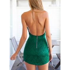 Print Sleeveless Bodycon Above Knee Sexy Dresses