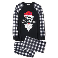 チェック 文字 マッチングファミリー クリスマスパジャマ