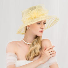Ladies' Simple/Romantic/Vintage Polyester Floppy Hats/Kentucky Derby Hats/Tea Party Hats