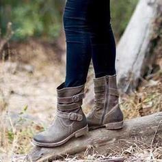 Жіночі ПУ Низький каблук Чоботи середньої довжини з Пряжка взуття