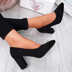Pentru Femei PU Toc gros Încălţăminte cu Toc Înalt cu Culoare solida pantofi