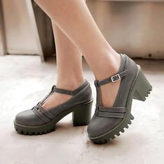 Femmes Similicuir Talon bottier Mary Jane avec Boucle chaussures