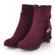 Femmes Suède Talon compensé Compensée Bottes Bottines chaussures