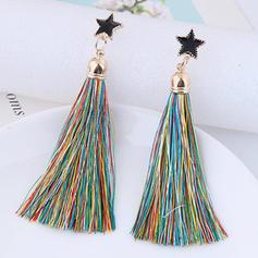 Magnifique Alliage String coton Dames Boucles d'oreille de mode