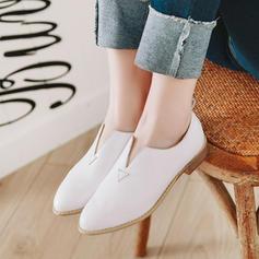婦人向け PU チャンクヒール ポンプ 靴