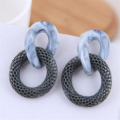 Fashionable Alloy Resin Women's Earrings