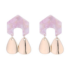 Stylish Alloy Acrylic Women's Fashion Earrings