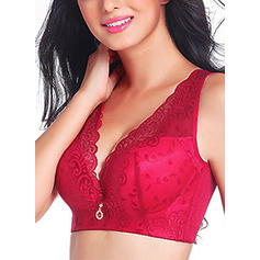 Lace Wireless Seamless Push Up Fullcup Padded Bra
