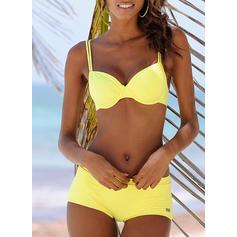 Jednolity kolor W prążki Seksowny Bikini Stroje kąpielowe