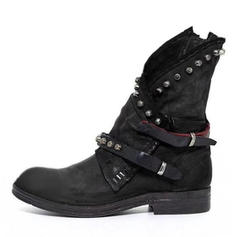 Women's PU Low Heel Boots With Rivet Buckle shoes