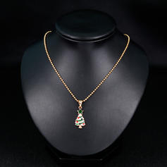 Christmas Tree Alloy Necklaces Christmas Jewelry