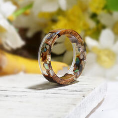 Vintage Classic Resin Wood With Resin Rings
