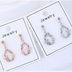 Beautiful Alloy Rhinestones With Rhinestone Women's Earrings (Set of 2)