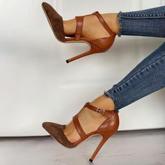 Kvinner PU Stiletto Hæl Pumps med Spenne sko
