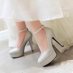 Donna PU Tacco a spillo Stiletto Piattaforma con Fibbia scarpe
