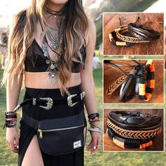 À la mode élégant Punk Vannerie Unisexe Bracelets de mode (Lot de 3)