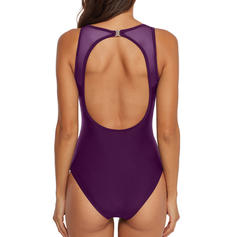 Stripe U-Neck Sexy One-piece Swimsuits