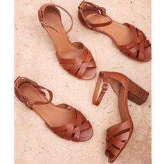 PU Επίπεδη φτέρνα Σανδάλια Διαμερίσματα Με Πόρπη Πλεγμένο ιμάντα παπούτσια