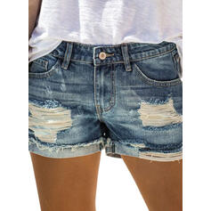 Ripped Sexy Denim Shorts
