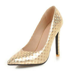 Women's Leatherette Stiletto Heel Pumps Closed Toe With Sequin shoes