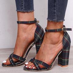 Femmes Tissu Talon bottier Sandales avec Boucle chaussures