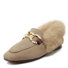 Dla kobiet Zamsz Płaski Obcas Plaskie Mary Jane Z Klamra obuwie