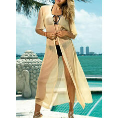 Solid Color Casual Boho Cover-ups Swimsuits