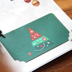god jul Juletre 3D Med konvolutt Kort Papir Gratulasjonskort Postkort Invitasjoner