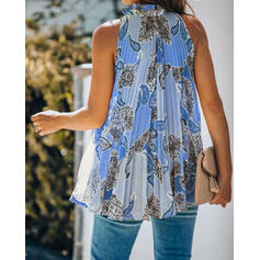 Print Floral V-Neck Sleeveless Casual Tank Tops