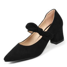 Women's Leatherette Chunky Heel Pumps shoes