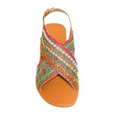 ПУ Низька підошва Сандалі взуття на короткій шпильці з Окремий спільний взуття