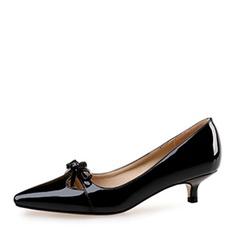 Жіночі Лакована шкіра Шпилька Закритий палець з Бант взуття