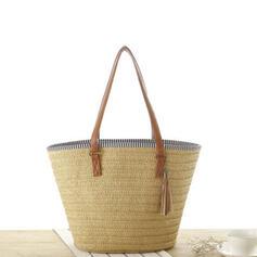 Elegante/Clássica/Estilo boêmio/Trançado/Super conveniente Bolsas de lona/Sacos de praia