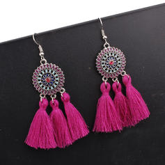 Exotic Alloy Braided Rope With Tassels Women's Fashion Earrings (Sold in a single piece)