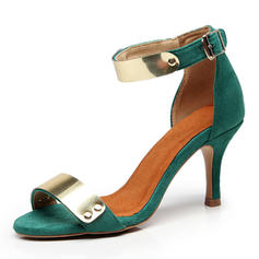 Women's Suede Stiletto Heel Sandals shoes