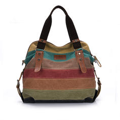 Unique/Stripe Canvas Totes Bags/Shoulder Bags