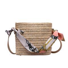 Unique Straw Shoulder Bags/Bucket Bags