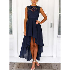 Lace Sleeveless A-line Asymmetrical Vintage/Casual/Elegant Dresses