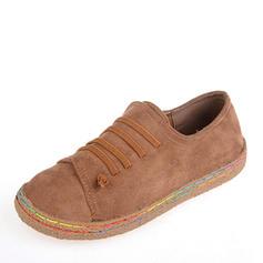 Femmes Suède Talon plat Chaussures plates Bout fermé chaussures