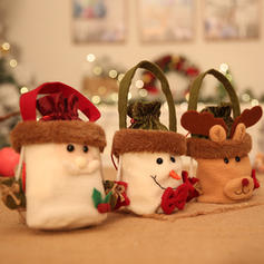 Merry Christmas Snowman Reindeer Santa Hanging Gift Bag Non-Woven Fabric Christmas Décor Apple Bags