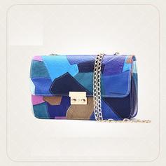 Färgglada/Splice Color Satchel/Crossbody Väskor/Axelrems väskor