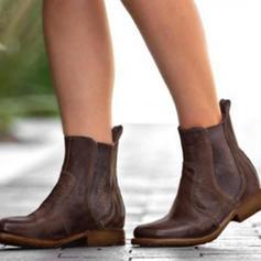 Dla kobiet PU Płaski Obcas Plaskie Zakryte Palce Kozaki Botki obuwie