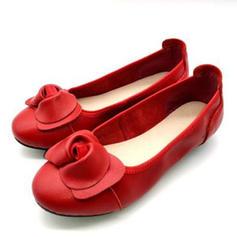Kvinder Ægte Læder Flad Hæl Fladsko med Blomst sko