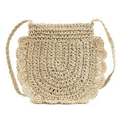 Lányos Straw Crossbody táskák/Strandtáskák/Vödör táskák